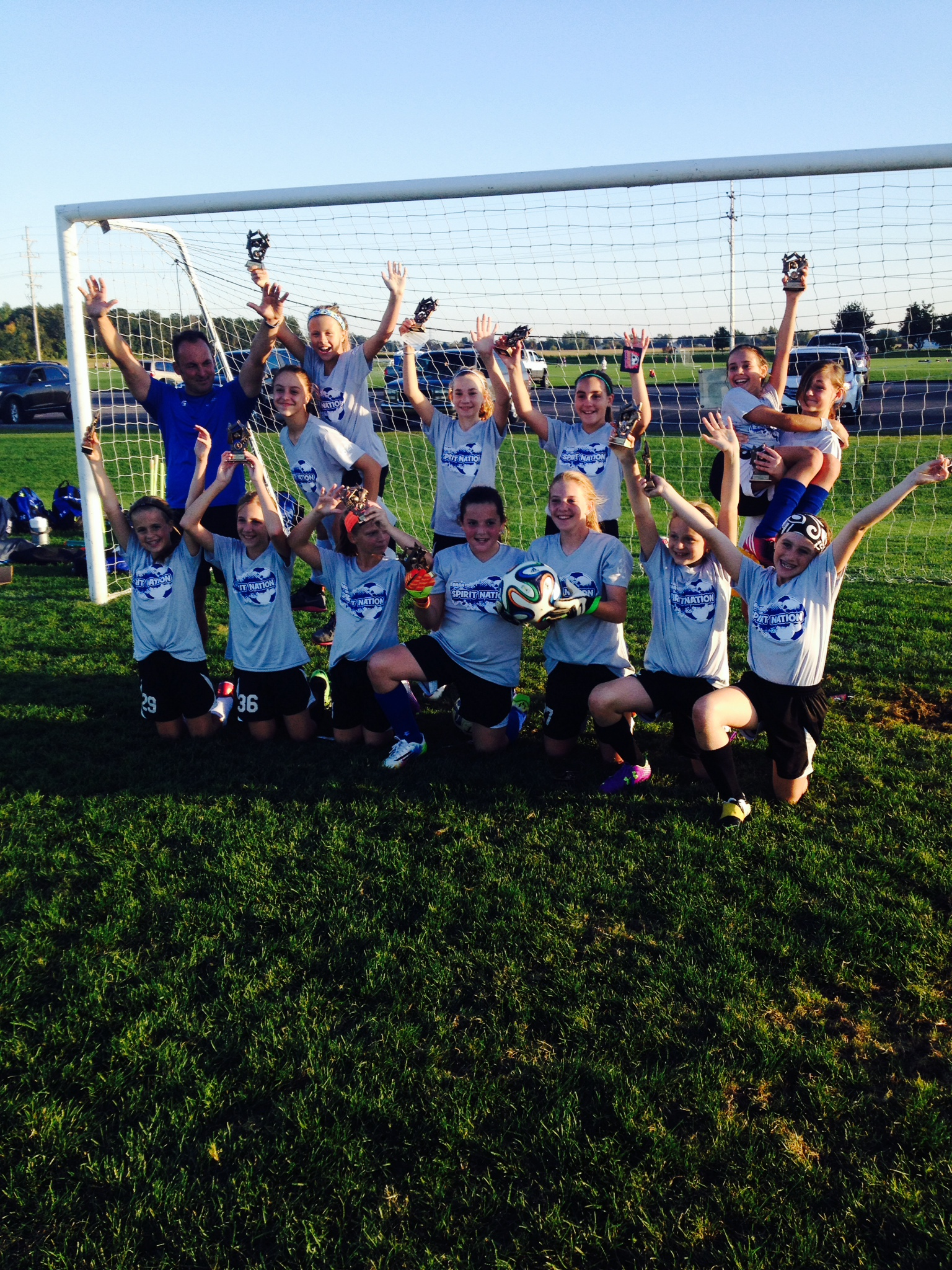 U12 Girls White - Champions