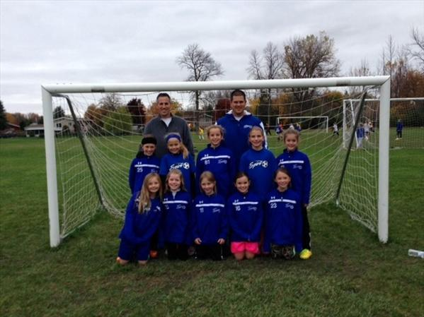 U9 Girls Spirit League Champs
